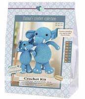 Go Handmade Crochet Kit Elephants Sara & Simba